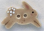 86320 - Tan Leaping Bunny 7/8in x 1/2in - 1 per pkg - Click Image to Close